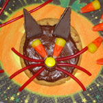 Picture of Halloween Cat Cookies recipe.